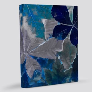 Fallen Leaves Abstract 11x14 Canvas Print