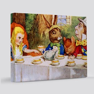14x10_Mad Hatter_ALICE_tenniel 11x14 Canvas Print