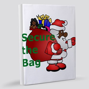 secure the bag santa 11x14 Canvas Print