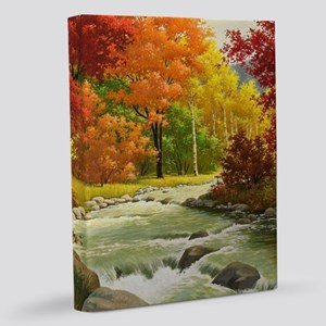 Autumn Landscape Painting 11x14 Canvas Print