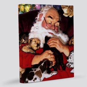 Santa Sleeping 11x14 Canvas Print