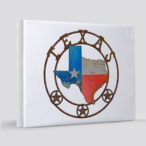 Texas Wrought Iron Barn Art 11x14 Canvas Print