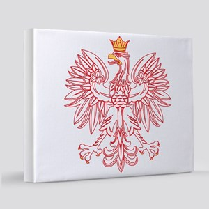 Polish Eagle Outlined In Red 11x14 Canvas Print
