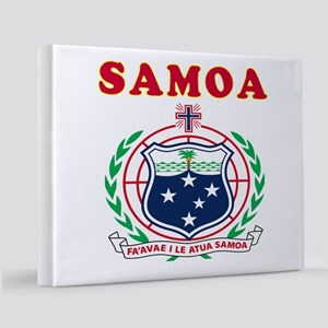 Samoa Coat Of Arms Designs 11x14 Canvas Print