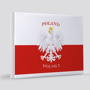 Poland Polska White Eagle Flag 11x14 Canvas Print