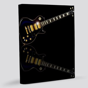 Black Beauty Electric Guitar 11x14 Canvas Print