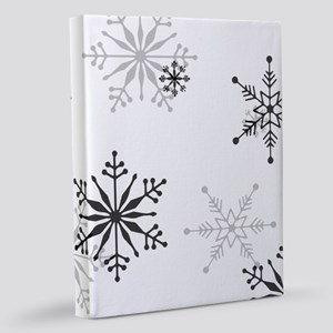 Snowflakes in Black and White 11x14 Canvas Print