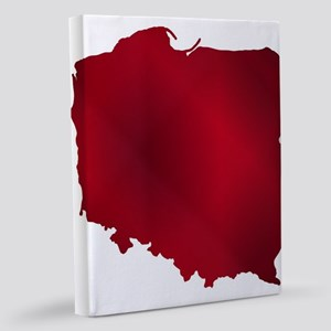 Poland Outline Silhouette Map 11x14 Canvas Print
