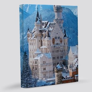 Castle In The Winter 11x14 Canvas Print