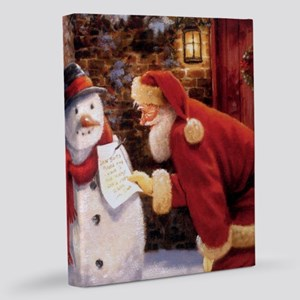 Santa Reading Note 11x14 Canvas Print