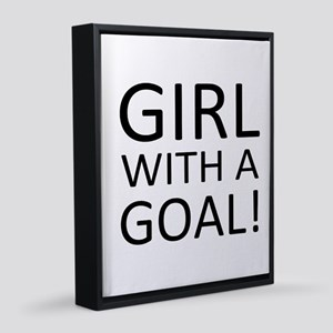 Girl With A Goal! 11x14 Canvas Print