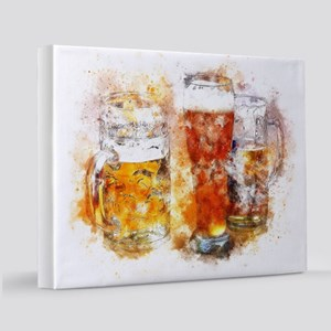 Abstract Watercolor Beer 11x14 Canvas Print