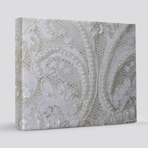boho chic french lace 16x20 Canvas Print