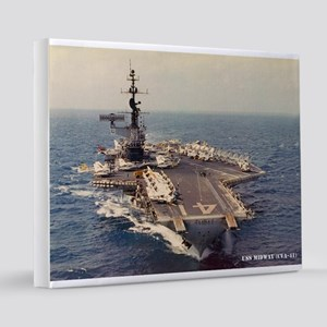 uss midway cva framed panel print 16x20 Canvas Pri