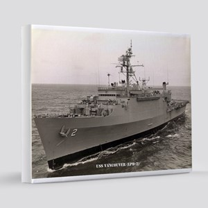 uss vancouver framed panel print 16x20 Canvas Prin