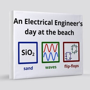 An Electrical Engineer's day at the beach 16x20 Ca