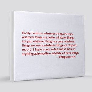 Philippians-4-8-opt-burg 16x20 Canvas Print