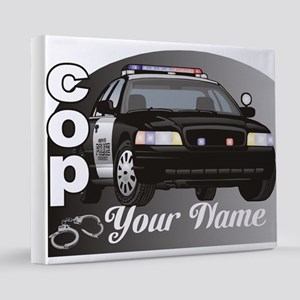 Custom Personalized Cop 16x20 Canvas Print