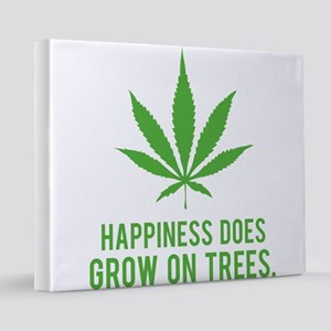 weedLeafHappiness2 16x20 Canvas Print
