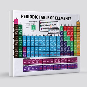 Periodic Table 16x20 Canvas Print
