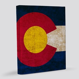 Vintage Flag of Colorado 16x20 Canvas Print