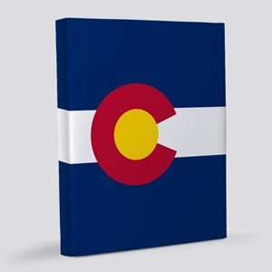 Colorado Flag 16x20 Canvas Print