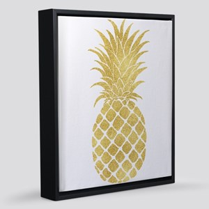 Gold Glitzy Pineapple 16x20 Canvas Print