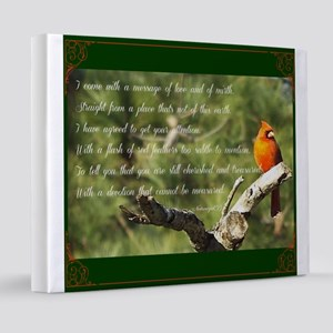 Cardinal Message 20x24 Canvas Print