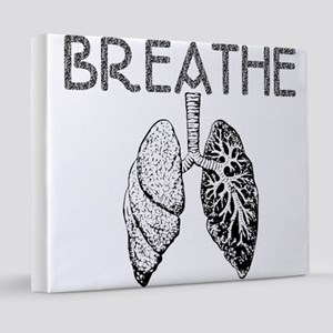 BREATHE lungs 20x24 Canvas Print
