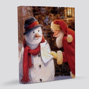 Santa Reading Note 20x24 Canvas Print