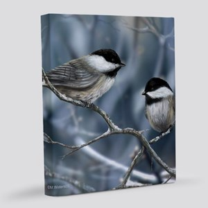 chickadee song bird 20x24 Canvas Print