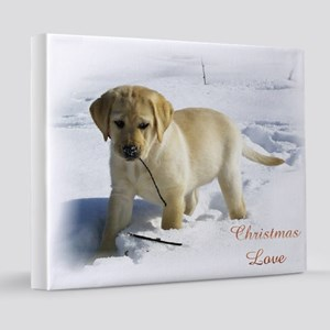 Labrador Retriever Christmas 20x24 Canvas Print