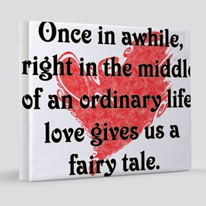 Love gives us a fairy tale 20x24 Canvas Print