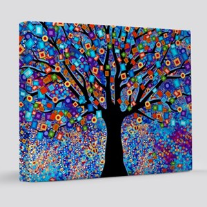 Colorful Tree of Life Art Print 20x24 Canvas Print