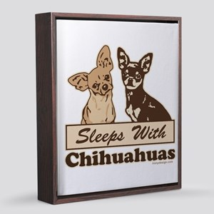 Sleeps With Chihuahuas 20x24 Canvas Print