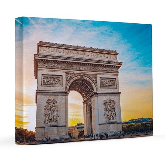 View of the Arch of Triumph in a parisian sunset