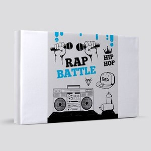 RAP BATTLE,HIP HOP,BOOMBOX 20x30 Canvas Print