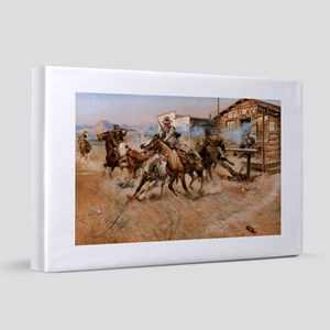 Smoke of a .45 by Frederic Remington 20x30 Canvas