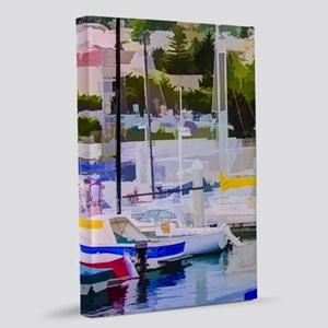 At The Marina 20x30 Canvas Print
