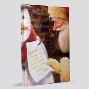 Santa Reading Note 20x30 Canvas Print