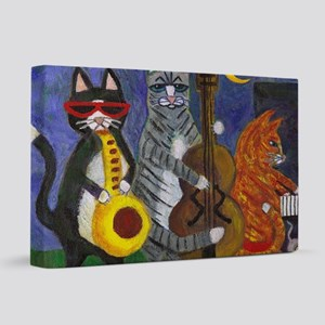 Jazz Cats at Night 20x30 Canvas Print