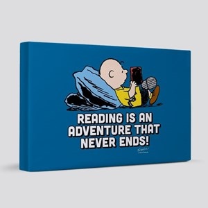 Charlie Brown - Reading is an Adventure FB 20x30 C
