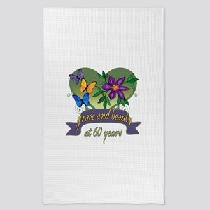 60th Birthday Grace and Beauty Tea Towel