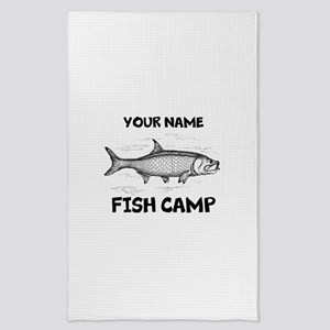 Custom Fish Camp Tea Towel