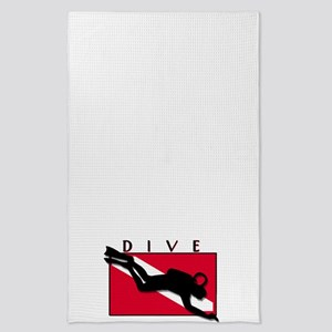 diver down-dive-blank type Tea Towel