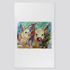 piglets, pig pair Tea Towel