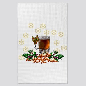 Beer and Peanut Christmas Tea Towel