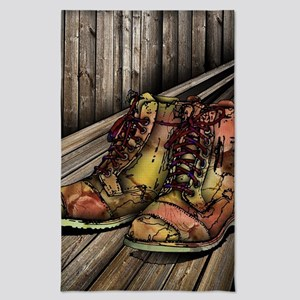 boots on wood Tea Towel