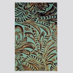 Western Rustic teal leather Tea Towel
