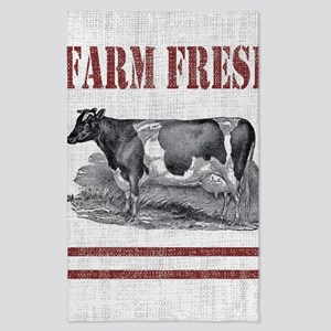 Country Chic Cow Farmhouse Tea Towel